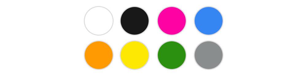 Standaardkleuren voor onze drankjetons